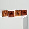 Hans j wegner, a set of four candlesticks, getama, denmark, made for the employees at getama.