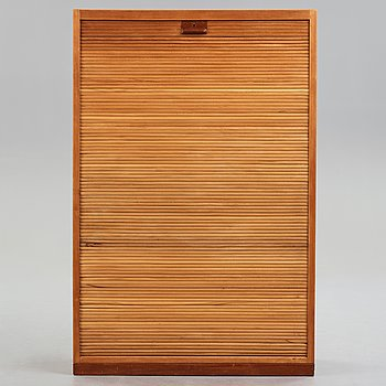 HANS J WEGNER, a tambour cabinet by Plan Møbler, for the Aarhus City Hall, Denmark 1941.