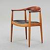 """Hans j wegner, """"the chair"""", jh 503, johannes hansen,  danmark 1950-tal."""