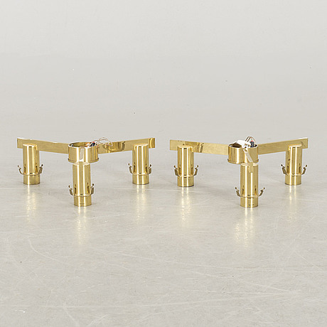 Hans-agne jakobsson, a pair of ceiling lamp, modell  pastoral t 376/3 markaryd second half of 20th century.