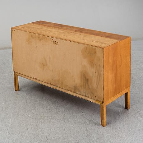 A 1960s oak and rattan sideboard by alf svensson, bjästa snickerifabrik.