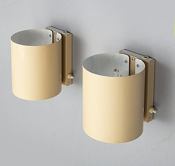 a pair of wall lamps by atelje lyktan in the second half of the 20th century.