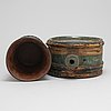 A swedish wooden cup and bottle, late 18th / early 19th century.