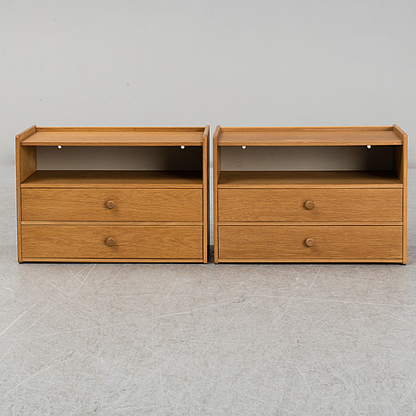 A pair of bedside tables/shelves, from the mid 20th century.