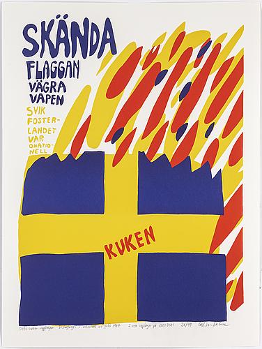 Carl johan de geer, silkscreen in color, signed and numbered 26/99.