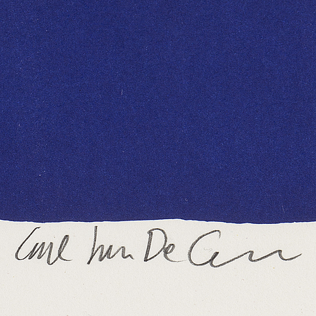 Carl johan de geer, silkscreen in color, signed and numbered 21/99.