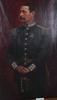 "Bruno hoppe, olja på duk, sign. ""august fredrik danckwardt"". chef för marinregementet."