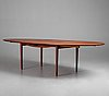 "Finn juhl, a teak  ""judas"" or ""silver"" table, executed by niels vodder, denmark, 1940-50's."