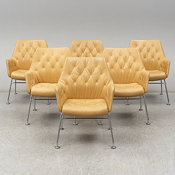 "A set of six Bruno Mathsson ""Mirja"" armchairs for Dux, Sweden."