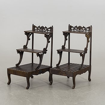 A pair of floral tributes, Sweden 19th century latter part.