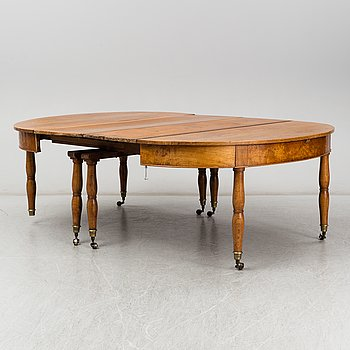 A Swedish mid 19th century dinner table.