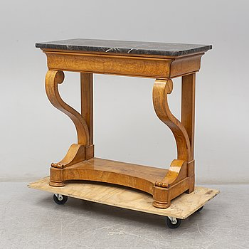 A late Empire console table, first half of the 19th century.
