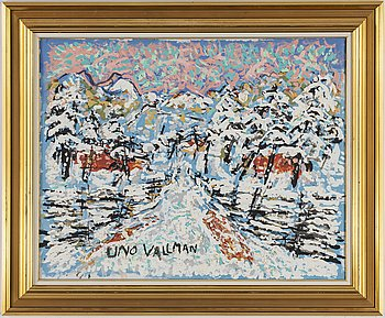 UNO VALLMAN, oil on canvas, signed.