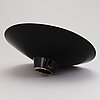 Howard smith, a footed ceramic bowl, signed. arabia finland.