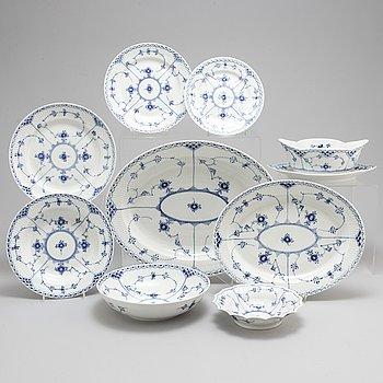ROYAL COPENHAGEN, a part 'Musselmalet' porcelain dinner service, Denmark (53 pieces).