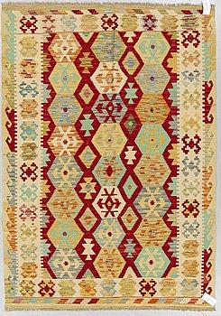 A RUG, kilim, around 203 x 148 cm.