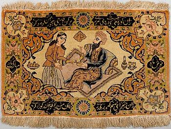 A RUG, Old Tabriz, around 53 x 85 cm.