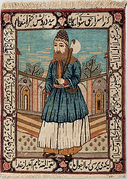 A CARPET, semi-antique Kashan, around 104 x 78 cm.