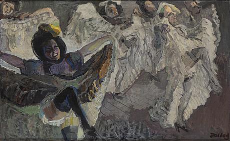 Åke dalberg, oil on canvas, signed.