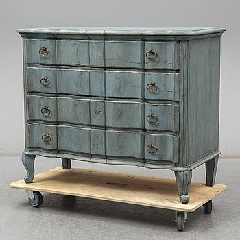 a baroque style chest of drawers from the 19th century.