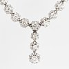 White gold and brilliant cut diamond necklace
