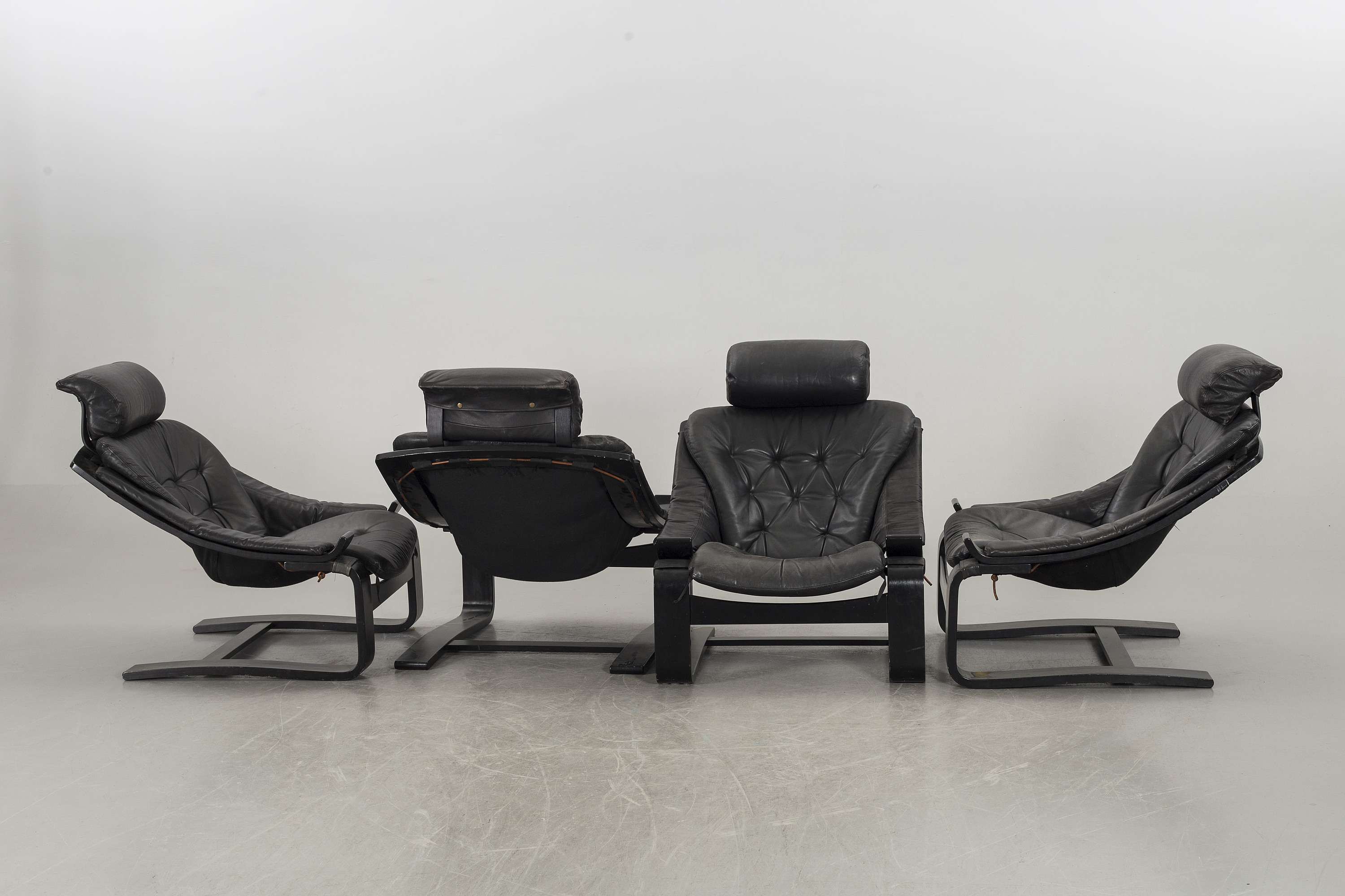 ÅKE FRIBYTER, easy chairs, four