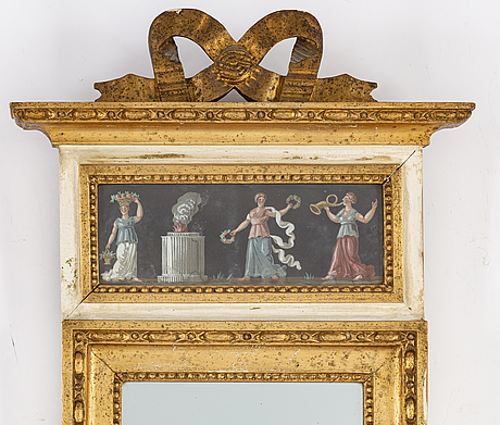 A late gustavian mirror, beginning of the 19th century.