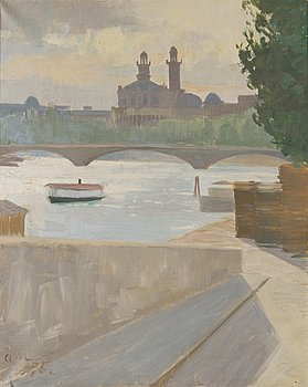 ALI MUNSTERHJELM, oil on canvas, signed and dated -95.