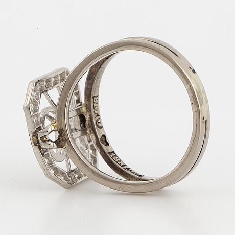 Old cut diamond monograme ring