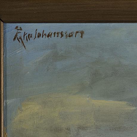 Åke johansson, oil on canvas, signed