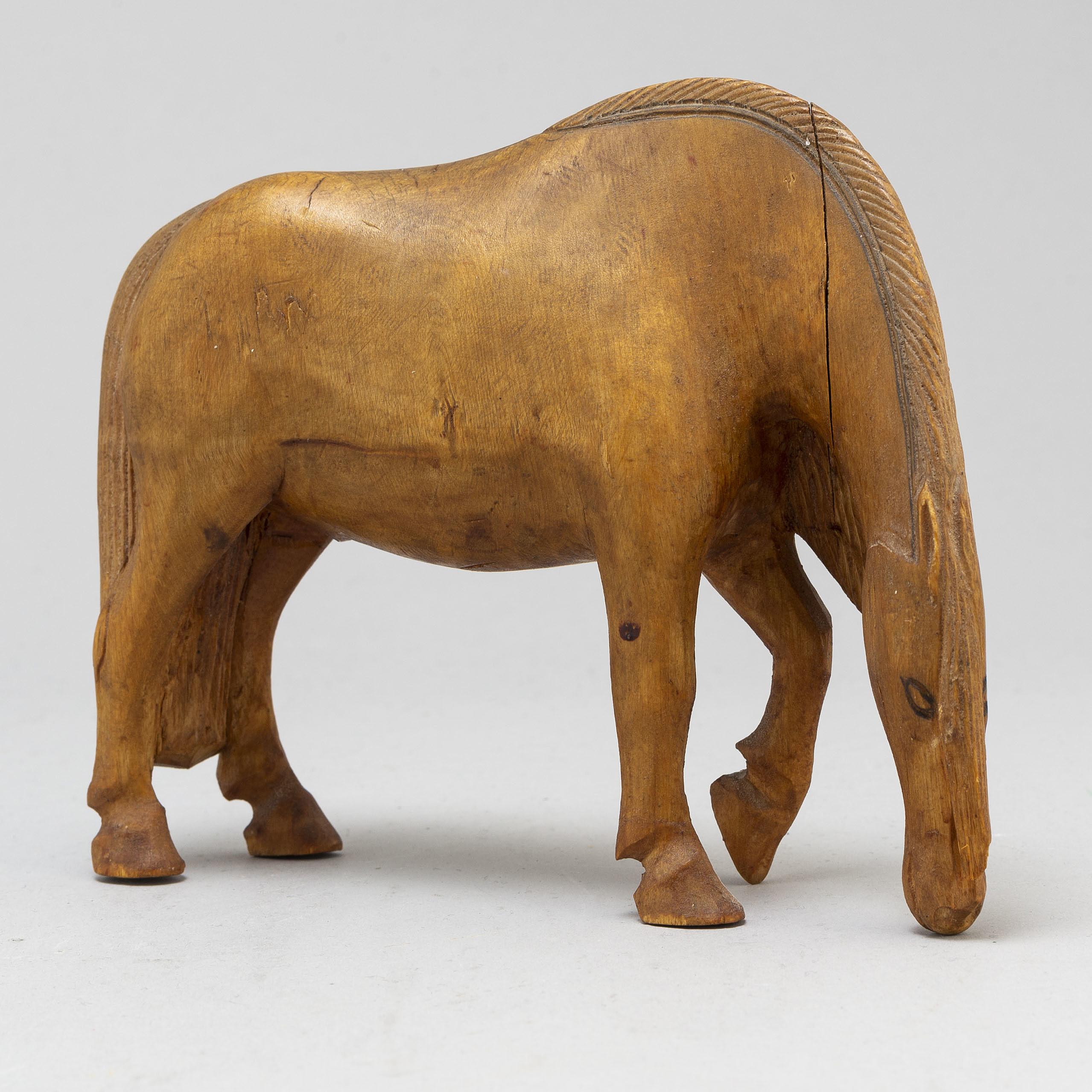 Jemt Olov Person A Wooden Horse Sculpture Bukowskis
