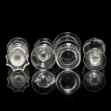 Glasservis, 18 delar, 1800 tal