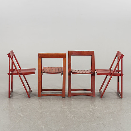 Seven second half of the 20th century collapsible chairs.