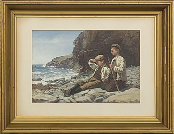 JOHN SMITH MORLAND, gouache, signed 1881.