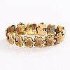 Bracelet, a 14k russian gold bracelet by master carl ernst (ernest), st petersburg 1848.