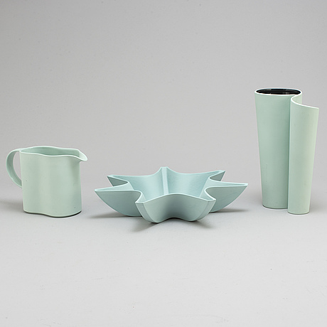 Pia tÖrnell, 3 ceramic objets from the 'pro arte' collection for rörstrand