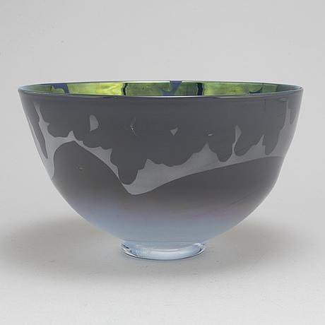 Kerttu nurminen, skål, notsjö, unikat, 1988.