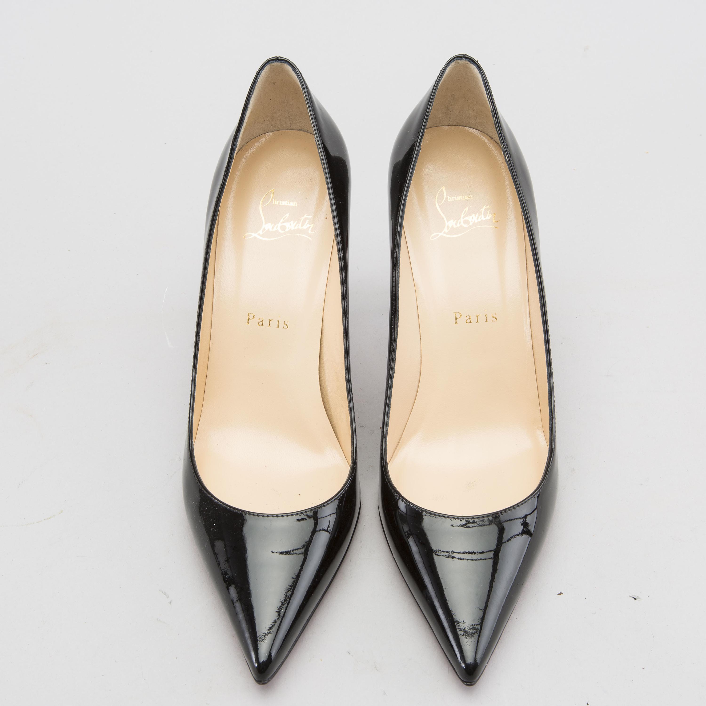 grand choix de 8cd58 56310 CHRISTIAN LOUBOUTIN, a pair of patent leather high heel ...