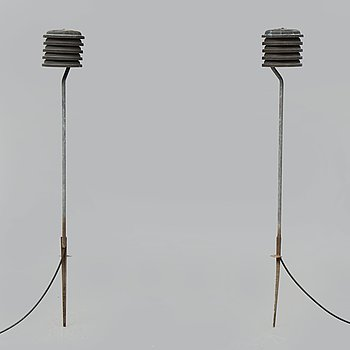 HANS-AGNE JAKOBSSON, a pair of copper outdoor lights, second half of the 20th Century.