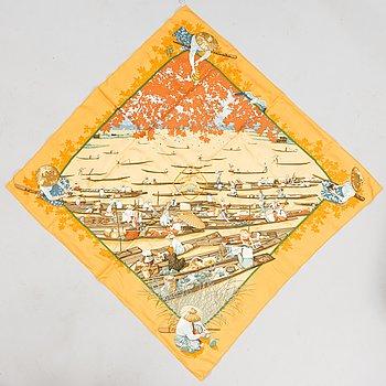 """HERMÈS, """"MARCHÉ FLOTTANT"""", scarf."""