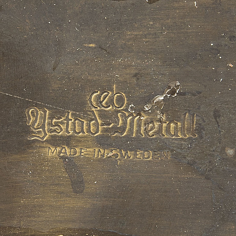 Carl einar borgstrÖm, bokstöd, ett par, ystad metall, 1900 talets första hälft