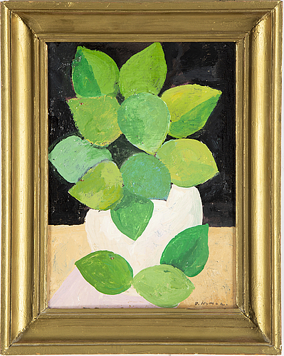 Olle nyman, oil on panel, signed o. nyman