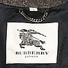 Burberry, mens double breasted tweed coat in size 56