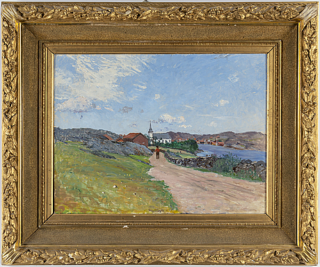 Anton genberg, oil on canvas, signed and daterd 91