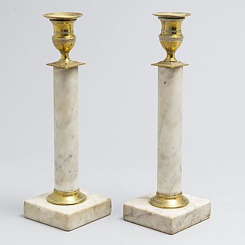 A pair Swedish 19th century candlesticks.