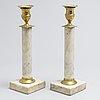 A pair swedish 19th century candlesticks