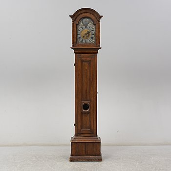 A Swedish long case clock, second half of the 18th century.