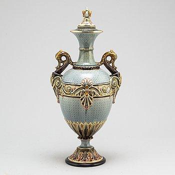 A Rörstrand majolica vase from ca 1900.