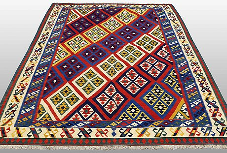 Carpet,  kilim shiraz, ca 292 x 205 cm.