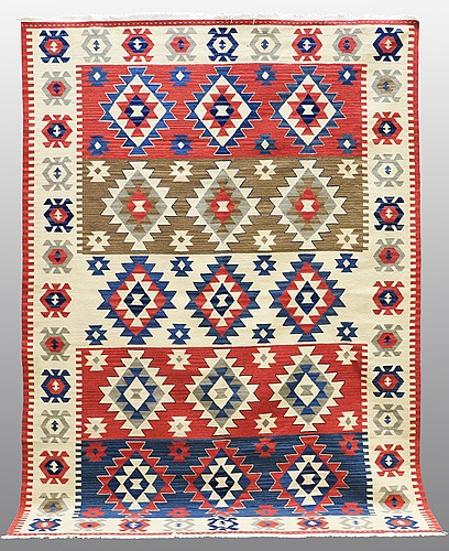 Carpet, kilim shiraz, ca 270 x 180 cm.